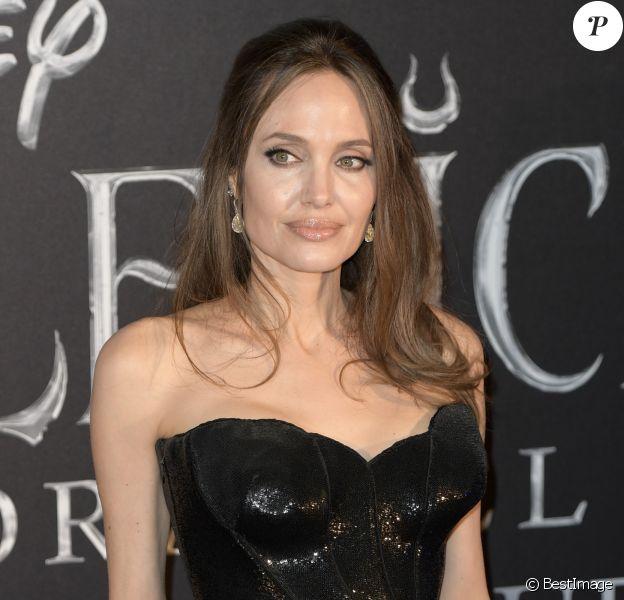 """Angelina Jolie - Première de """"Maléfique : Le pouvoir du Mal"""" à Rome, le 7 octobre 2019."""