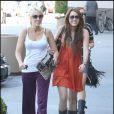 Miley Cyrus à Burbank avec sa mère (23 août 2009)