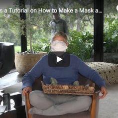 Le tuto d'Ellen DeGeneres pour fabriquer un masque, sur YouTube, le 14 avril 2020.