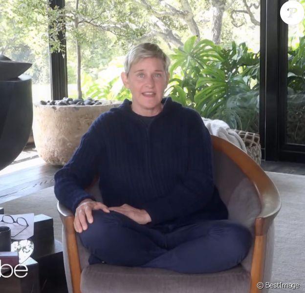 Ellen DeGeneres dans son talk-show à domicile, à Los Angeles, le 7 avril 2020.
