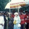 Elizabeth II en voyage au Sri Lanka en 1981.