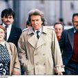 ARCHIVES - MONIQUE VILLEMIN (MERE DE JEAN-MARIE), L'AVOCAT PAUL LOMBARD ET ALBERT PERE DE JEAN-MARIE LORS D' UNE RECONSTITUTION LE 14 OCTOBRE 1987