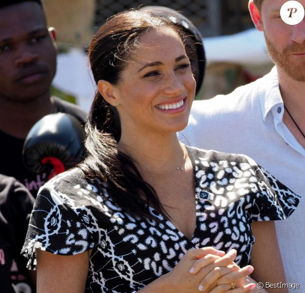 Meghan Markle, duchesse de Sussex, en visite dans le township de Nyanga, Afrique du Sud. Le 23 septembre 2019.