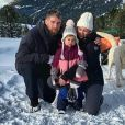 Luka Karabatic, Jeny Priez et leur fille Deva. Janvier 2020.