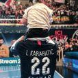 Luka Karabatic et sa fille Deva. Février 2020.