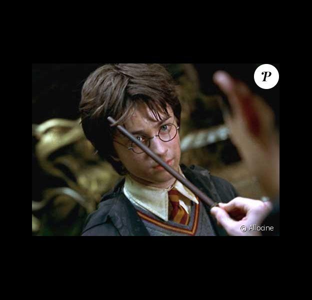 """Daniel Radcliffe dans le film """"Harry potter et la chambre des secrets"""". 2002."""