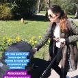 Anouchka Delon dévoile une photo d'elle en train de se promener avec son bébé, le 20 mars 2020.
