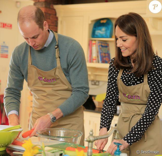 Le prince William, duc de Cambridge, Catherine Kate Middleton, duchesse de Cambridge lors d'une visite de Savannah House dans le comté de Meath en Irlande le 4 mars 2020.