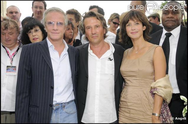 Sophie Marceau, Christophe Lambert et Alain Monne au Festival du Film Francophone d'Angoulême. 27/08/09