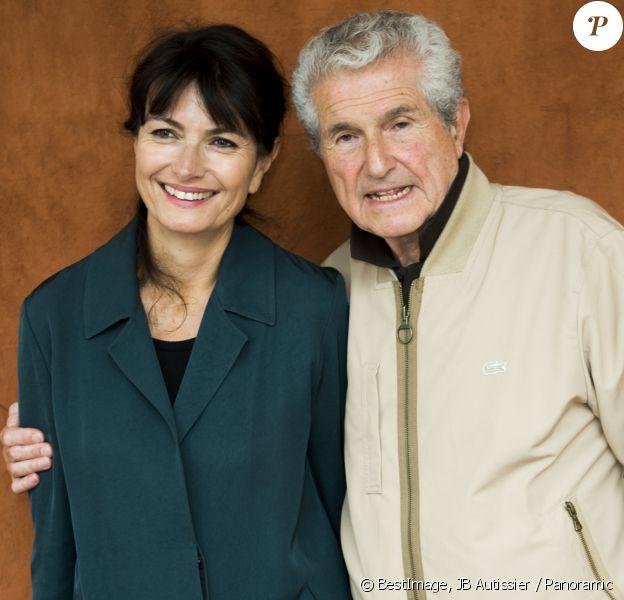 Claude Lelouch et sa femme Valérie Perrin au village des internationaux de France de tennis de Roland Garros 2019 à Paris le 7 juin 2019. © JB Autissier / Panoramic / Bestimage