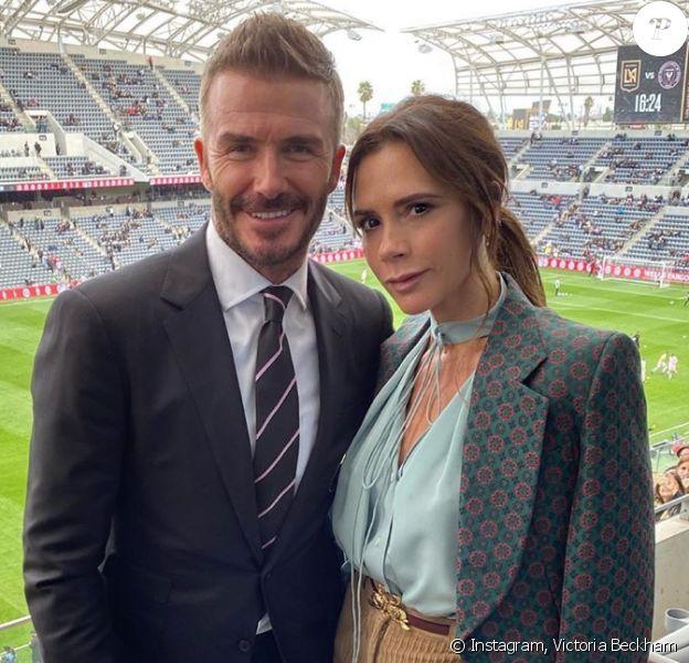 David et Victoria Beckham à Miami. Février 2020.