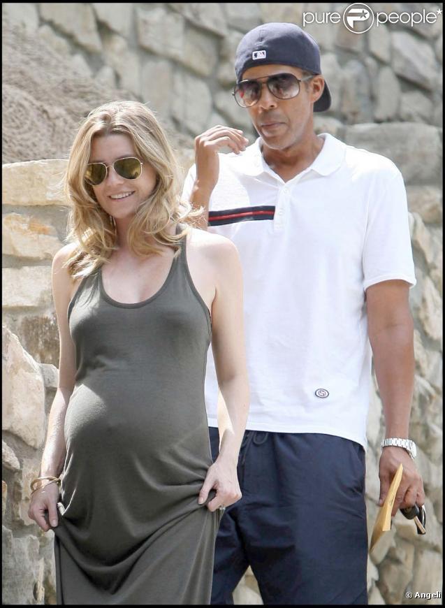 Ellen Pompeo et son mari Chris Ivery, à Los Angeles, le 28 août 2009