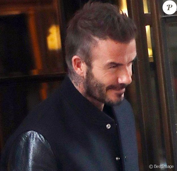 Exclusif - David Beckham arrive à Milan et va déjeuner chez Giacomo le 14 janvier 2020.