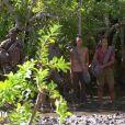 """Claude, Moussa, Inès, Naoil, Alexandra et Régis dans l'épisode de """"Koh-Lanta 2020"""" du 15 mai 2020, sur TF1"""