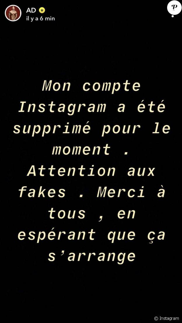 Le compte Instagram d'Adrien Laurent a été supprimé (Mai 2020).