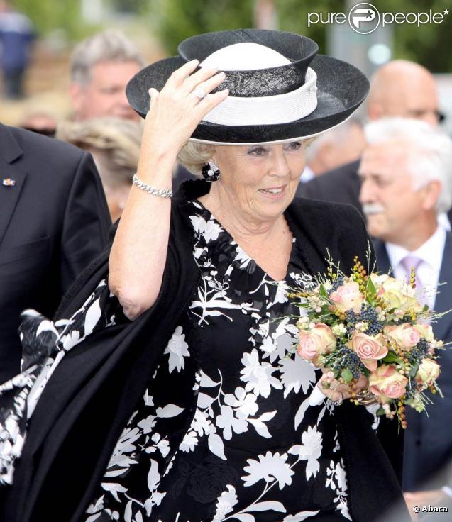 Beatrix des Pays-Bas le 28 août à Raalte, en pleine fête des moissons