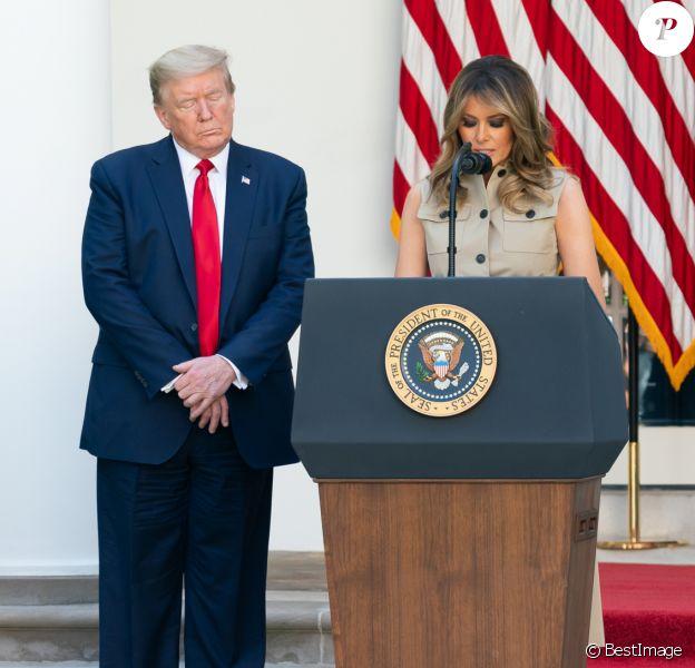 Melania Trump à la Maison Blanche. Washington, D.C., le 7 mai 2020.