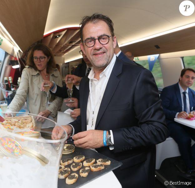 Exclusif - Michel Sarran - Inauguration de la nouvelle ligne LGV (Ligne Grande Vitesse) Paris-Bordeaux. Le TGV est parti de la gare Montparnasse à 8h41. Le 1er juillet 2017 © CVS / Bestimage