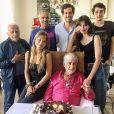Paul Belmondo a partagé cette photo de sa réunion de famille avec notamment Jean-Paul Belmondo, sur Instagram, le 28 mai 2020.