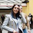 Georgina Rodriguez arrive avec son fils Cristiano Ronaldo Jr au Festival 2020 de Sanremo en Italie, le 25 janvier 2020