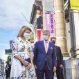Le Roi Philippe de Belgique et la Reine Mathilde lors d'une visite des Musées Royaux des Beaux-arts de Belgique à Bruxelles. Belgique, Bruxelles, le 19 mai 2020.
