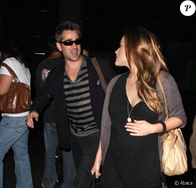 Colin Farrell et sa girlfriend Alicja Bachleda-Curus à Los Angeles, août 2009
