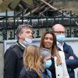 Arnaud Montebourg et sa compagne Amina Walter - Sorties - Hommage à Guy Bedos en l'église de Saint-Germain-des-Prés à Paris le 4 juin 2020.
