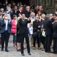 Muriel Robin - Hommage à Guy Bedos en l'église de Saint-Germain-des-Prés à Paris le 4 juin 2020.
