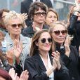 Muriel Robin, avec Anne Le Nen, Victoria Bedos et Joëlle Bercot - Hommage à Guy Bedos en l'église de Saint-Germain-des-Prés à Paris le 4 juin 2020.