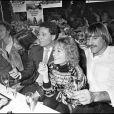 Pierre Richard, Charlotte Gainsbourg, Jane Birkin, Claude Zidi, Annie Girardot et Gérard Depardieu en 1981.