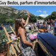 """Une de """"Corse-Matin"""", avec l'inhumation de Guy Bedos à Lumio, en Corse, le 8 juin 2020."""