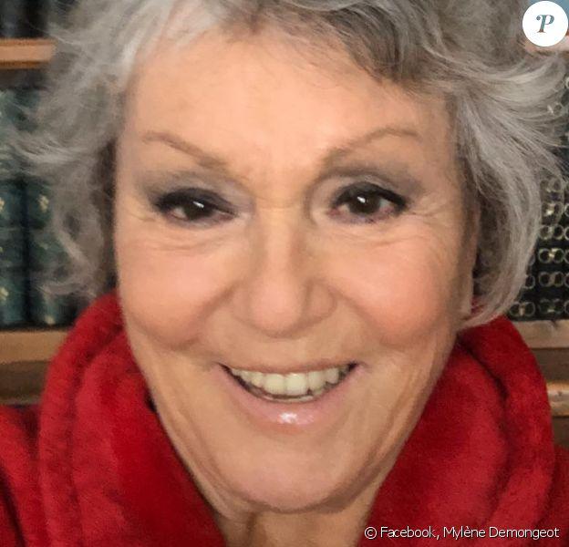 Mylène Demongeot sur Facebook. Le 7 mai 2020.