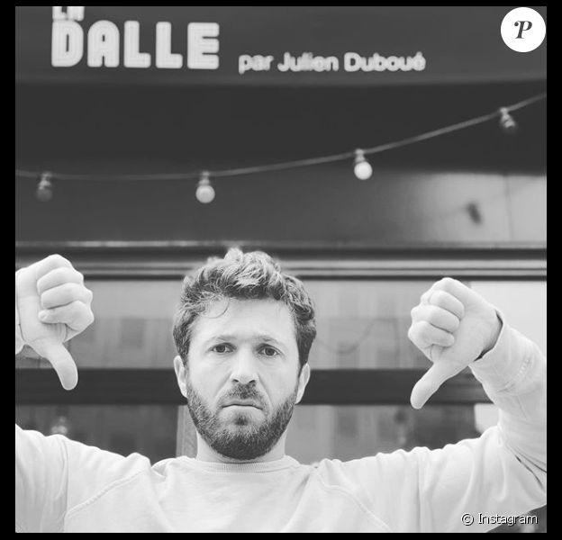 """Julien Duboué, candidat de """"Top Chef"""" en 2014 a été contraint de fermer son restaurant La Dalle à cause du coronavirus. Il a fait cette annonce sur Instagram en juin 2020."""