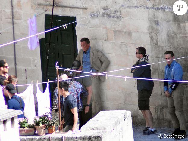"""Daniel Craig est sur le tournage du nouveau James Bond """"No Time To Die"""", l'équipe du film tourne des cascade en Italie, le 16 septembre 2019."""
