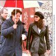 Julia Roberts et Hugh Grant sur le tournage du film Coup de foudre à Notting Hill.