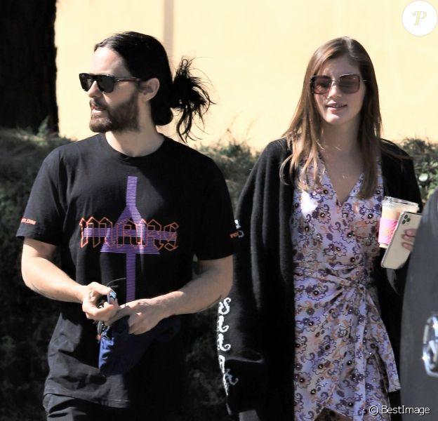 Exclusif - Jared Leto est allé déjeuner avec Valery Kaufman et sa mère C. Leto chez Joan's On Third à Los Angeles, le 17 février 2020