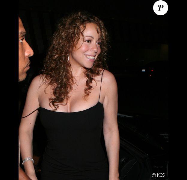 La chanteuse Mariah Carey retrouve le look de ses débuts à Beverly Hills le 3 septembre 2009