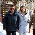 Exclusif - Matthew Bellamy et sa fiancée Elle Evans se promènent à Aspen, le 27 décembre 2017.