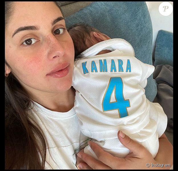 Coralie Porrovecchio et son fils Leeroy, né le 23 mai 2020. Photo publiée sur Instagram en juin 2020.