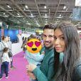 "Karima de ""Koh-Lanta"" avec son mari et sa fille, le 4 novembre 2019"