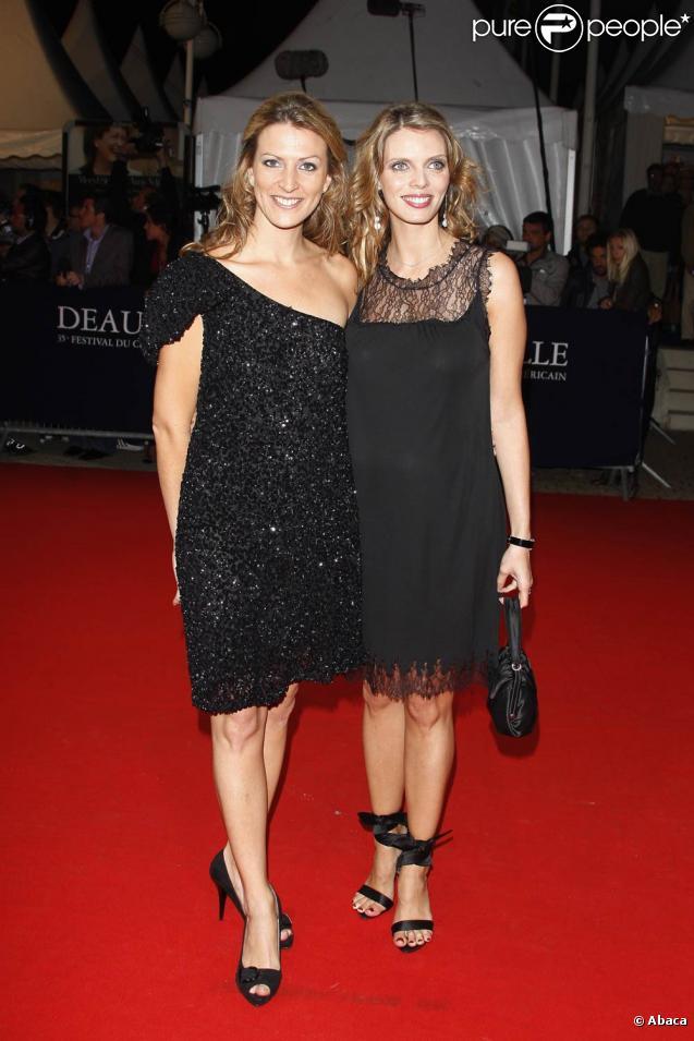 Sylvie Tellier enceinte, pose avec sa soeur Anne-Sophie, à l ...