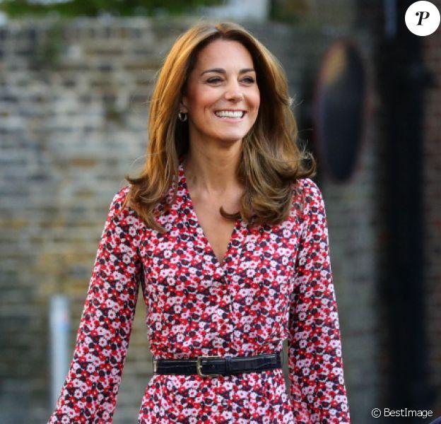 Le prince William, duc de Cambridge, et Catherine (Kate) Middleton, duchesse de Cambridge, accompagnent le prince George et la princesse Charlotte pour leur rentrée scolaire à l'école Thomas's Battersea à Londres, Royaume Uni, le 5 septembre 2019.