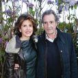 Anne Nivat et son mari Jean-Jacques Bourdin - Prix de la Closerie des Lilas 2016 à Paris, le 12 avril 2016. © Olivier Borde/Bestimage