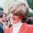 Archives - La princesse Lady Diana d'Angleterre à Tetbury. Mai 1981.