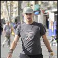 Chris Martin, dans les rues de Barcelone, en Espagne, le 6 septembre 2009 !