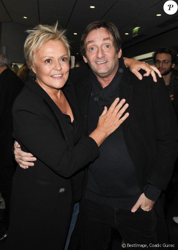 """Muriel Robin et Pierre Palmade - Générale du nouveau spectacle """"Muriel Robin et Pof !"""" au Palais des Sports à Paris le 3 octobre 2019. © Coadic Guirec/Bestimage"""