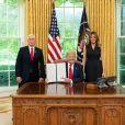 Donald J. Trump, Melania Trump et Mike Pence, le 2 juin 2020 à la Maison Blanche