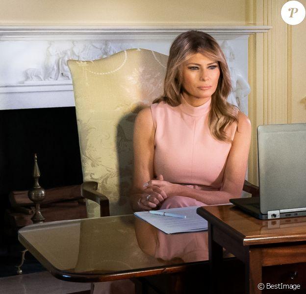 Melania Trump en visio le 1er juin 2020 à la Maison Blanche