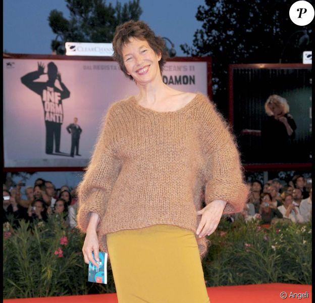 Jane Birkin lors de la présentation officielle de 36 vues du Pic Saint-Loup, à l'occasion de la 66e Mostra de Venise, le 7 septembre 2009 !