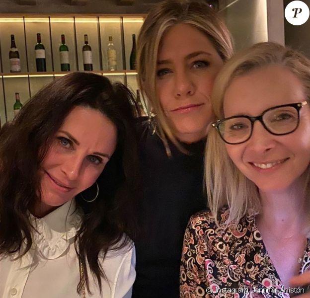 Jennifer Aniston, Lisa Kudrow et Courteney Cox sur Instagram. Le 13 janvier 2020.
